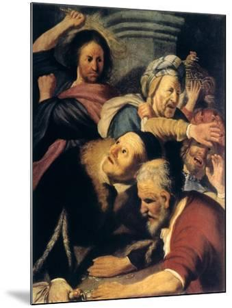 Christ Drives the Money-Changers from the Temple, 1626-Rembrandt van Rijn-Mounted Giclee Print