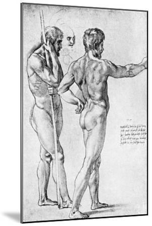 Two Male Nude Studies, 1515-Raphael-Mounted Giclee Print