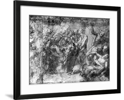 Study for an Entombment, Attributed to Raphael, 1913-Raphael-Framed Giclee Print