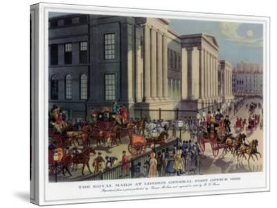 The Royal Mails at London General Post Office, 1830-R Reeves-Stretched Canvas Print