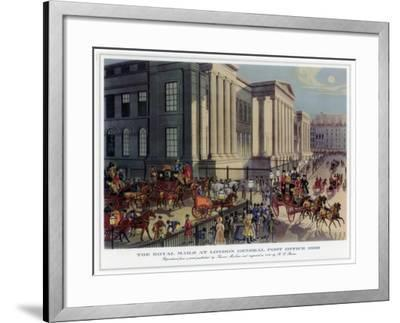 The Royal Mails at London General Post Office, 1830-R Reeves-Framed Giclee Print