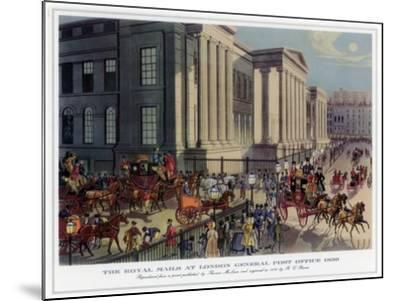 The Royal Mails at London General Post Office, 1830-R Reeves-Mounted Giclee Print