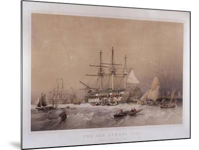 The Old School, 1755: Eight Months to India, 1855-Robert Carrick-Mounted Giclee Print