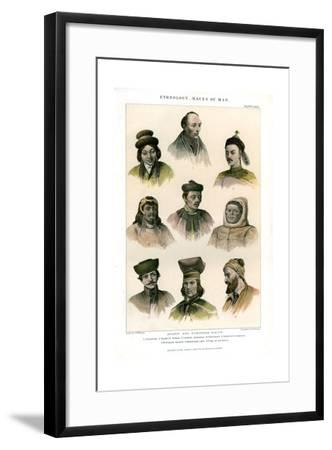 Ethnology, Races of Man, 1800-1900-R Anderson-Framed Giclee Print