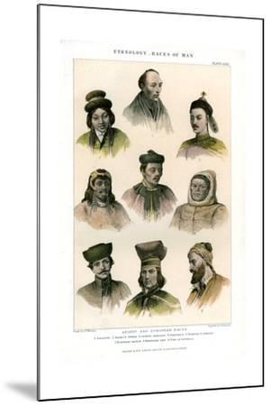 Ethnology, Races of Man, 1800-1900-R Anderson-Mounted Giclee Print