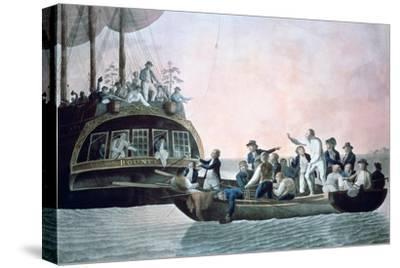 The Mutineers Turning Lieut Bligh...And Crew Adrift from His Majesty's Ship the Bounty, 1790-Robert Dodd-Stretched Canvas Print