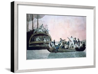 The Mutineers Turning Lieut Bligh...And Crew Adrift from His Majesty's Ship the Bounty, 1790-Robert Dodd-Framed Giclee Print