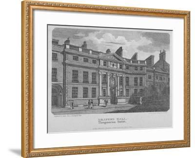 Drapers' Hall, Throgmorton Street, City of London, 1812-Robert Sands-Framed Giclee Print