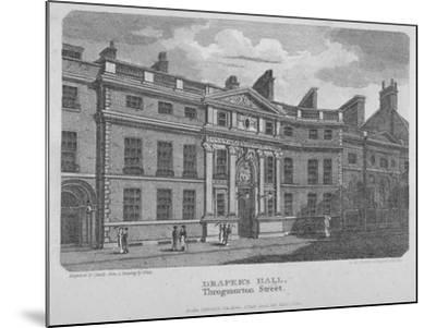 Drapers' Hall, Throgmorton Street, City of London, 1812-Robert Sands-Mounted Giclee Print