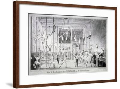 Interior View of a Gymnasium, 26 St James's Street, Westminster, London, C1830-Robert Seymour-Framed Giclee Print