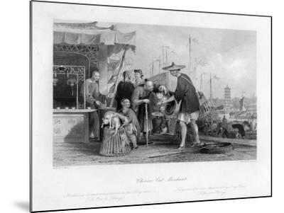 Chinese Cat Merchants, 19th Century-TA Prior-Mounted Giclee Print