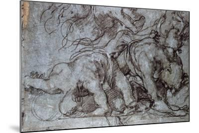 The Fighters, 16th Century-Taddeo Zuccaro-Mounted Giclee Print
