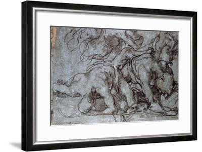 The Fighters, 16th Century-Taddeo Zuccaro-Framed Giclee Print
