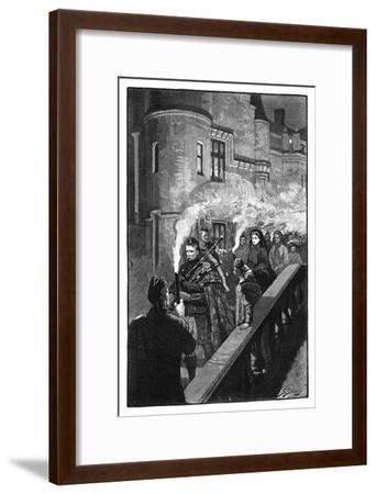 Queen Victoria Celebrating Halloween at Balmoral, Late 19th Century-S Stacey-Framed Giclee Print