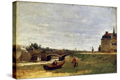 Landscape with a Bridge, Early 1870S-Stanislas Lepine-Stretched Canvas Print