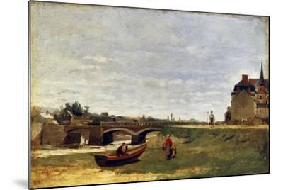 Landscape with a Bridge, Early 1870S-Stanislas Lepine-Mounted Giclee Print
