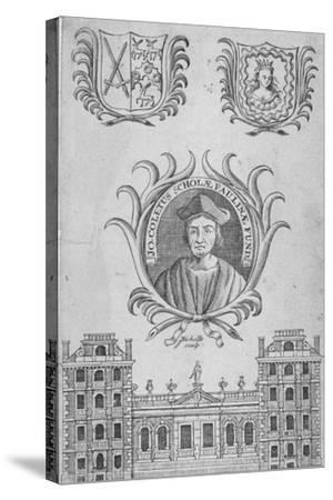 St Paul's School, City of London, 1750-Sutton Nicholls-Stretched Canvas Print