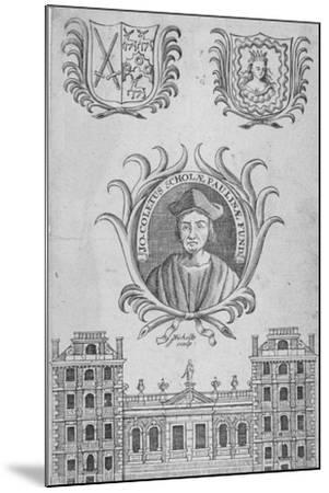 St Paul's School, City of London, 1750-Sutton Nicholls-Mounted Giclee Print