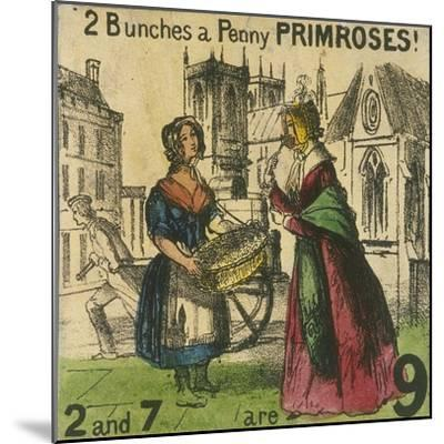 2 Bunches a Penny Primroses!, Cries of London, C1840-TH Jones-Mounted Giclee Print