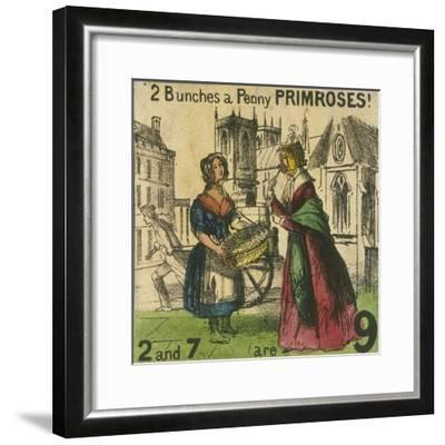 2 Bunches a Penny Primroses!, Cries of London, C1840-TH Jones-Framed Giclee Print
