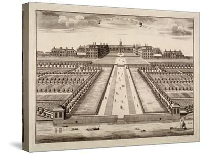 Bird's-Eye View of the Royal Hospital, Chelsea, London, C1750-Sutton Nicholls-Stretched Canvas Print