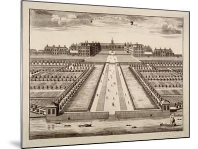 Bird's-Eye View of the Royal Hospital, Chelsea, London, C1750-Sutton Nicholls-Mounted Giclee Print