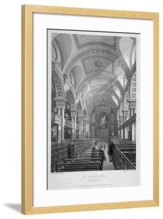 St Bride's Church, Fleet Street, City of London, 1839-T Turnbull-Framed Giclee Print