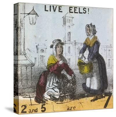 Live Eels!, Cries of London, C1840-TH Jones-Stretched Canvas Print