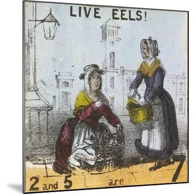 Live Eels!, Cries of London, C1840-TH Jones-Mounted Giclee Print