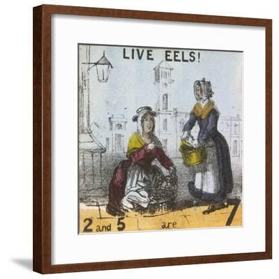 Live Eels!, Cries of London, C1840-TH Jones-Framed Giclee Print