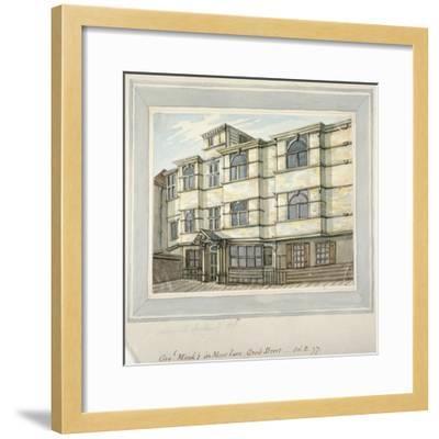 House of George Monck, Duke of Albermarle in Grub Street, Now Milton Street, City of London, 1797-Samuel Ireland-Framed Giclee Print