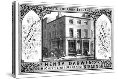 Henry Darwin Tailor's Shop, Birmingham, 19th Century-T Underwood-Stretched Canvas Print