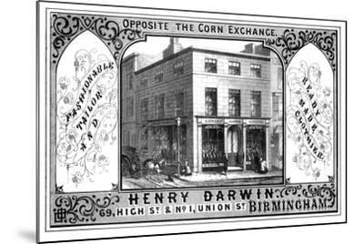 Henry Darwin Tailor's Shop, Birmingham, 19th Century-T Underwood-Mounted Giclee Print