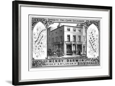 Henry Darwin Tailor's Shop, Birmingham, 19th Century-T Underwood-Framed Giclee Print
