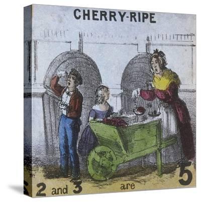Cherry-Ripe, Cries of London, C1840-TH Jones-Stretched Canvas Print