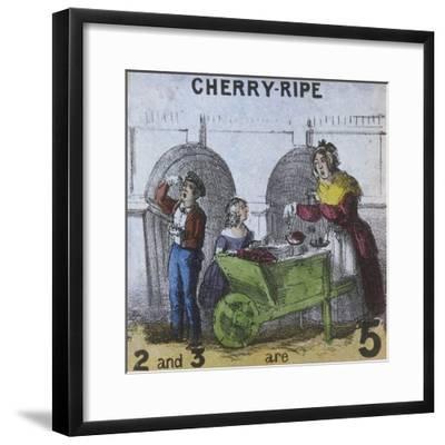 Cherry-Ripe, Cries of London, C1840-TH Jones-Framed Giclee Print