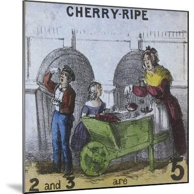 Cherry-Ripe, Cries of London, C1840-TH Jones-Mounted Giclee Print