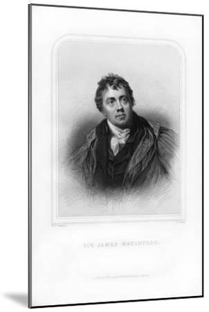 Sir James Mackintosh, Scottish Writer and Philosopher-S Freeman-Mounted Giclee Print