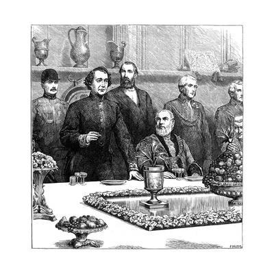 Lord Beaconsfield at a Banquet in the Guildhall, Late 19th Century- Swain-Framed Giclee Print