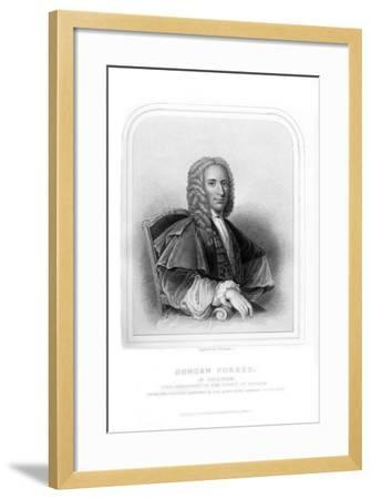 Duncan Forbes, Scottish Politician and Judge-S Freeman-Framed Giclee Print