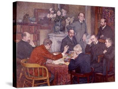 The Lecture, 1903-Th?o van Rysselberghe-Stretched Canvas Print