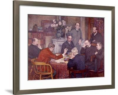 The Lecture, 1903-Th?o van Rysselberghe-Framed Giclee Print
