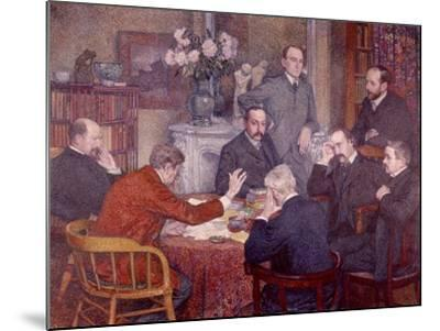 The Lecture, 1903-Th?o van Rysselberghe-Mounted Giclee Print