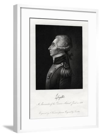 Marquis De Lafayette, French Military Leader and Statesman, 1845-S Freeman-Framed Giclee Print