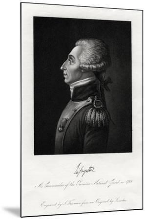 Marquis De Lafayette, French Military Leader and Statesman, 1845-S Freeman-Mounted Giclee Print