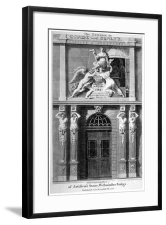 Entrance to Coade and Sealey's Gallery of Coade Stone Sculpture, Lambeth, London, 1802-Samuel Rawle-Framed Giclee Print