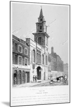Church of St Vedast Foster Lane, City of London, 1814-Samuel Rawle-Mounted Giclee Print