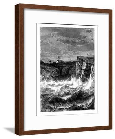 On the Coast, Angola, 19th Century-T Weber-Framed Giclee Print