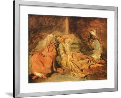 Interior of a Harem, 1856-Th?odore Chass?riau-Framed Giclee Print