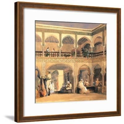 Bazaar in Orleans, 1840S-Th?odore Chass?riau-Framed Giclee Print